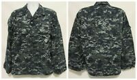 US Navy Working Uniform Type I Blue Digital Camo Blouse Jacket  Medium Short
