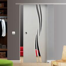 Soft Stop SlimLine Glasschiebetür Glas Schiebe Tür ESG BM2-900-AS