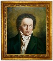 Ölbild BEETHOVEN Portrait, Gemälde, Ölgemälde handgemalt signiert F:50x60cm