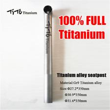 TiTo Titanium Bike Seatpost Bicycle MTB Road Bike Seatpost 35cm 27.2 30.9 31.6mm