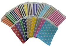 More details for candy polka dot spot  stripe paper sweet bags gift  party weddings birthday 5x7