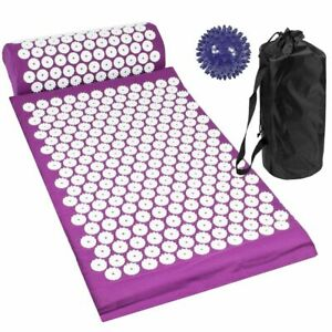 Acupressure Mat Pillow and Ball Set Pain Soreness Stress Relief Body Relax Yoga