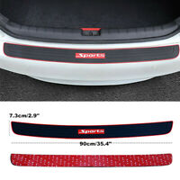 Auto Rear Bumper Guard Trunk Edge Black Rubber Protector Strip Sticker Cover