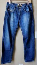 Diesel Premium 100% Cotton Straight Leg Blue Jeans Denim Pants Size 32 x 31