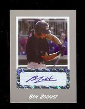BEN ZOBRIST 2004 *SILVER*  - Certified Individually #'d AUTOGRAPH RC 1/100