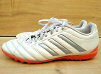 adidas Goletto Astro Turf Football Trainers Shoes Size 8.5 42.5eu Silver White