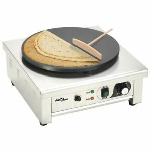 Electric Crepe Maker With Pullout Tray 3000W Non-Stick Pancake Making Machine