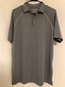NWT Peter Millar Golf Crown Sport Polo Mens Size Medium Smoke Gray