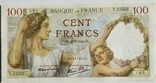 FRANCE 100 CENT FRANCS BANKNOTE 1941 XF NO RESERVE