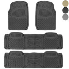 New 3 Rows Heavy Duty SUV Rubber Floor Mats Liners 4pc set American Suvs Trucks