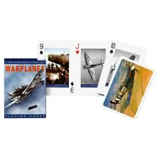 GIBSONS WARPLANES PLAYING DECK OF CARDS GAME BY PIATNIK NEW SEALED AIRCRAFT WW2
