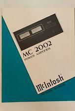 McIntosh MC2002 Power Amplifier Owner's Manual - Original