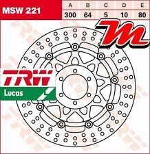 Disque de frein Avant TRW Lucas MSW 221 pour Yamaha FZR 400 R 4DX 1990-