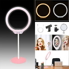 "Zomei LED Ring Light 10"" Desktop Photograph lamp Dimmable lighting USB/Mirror"