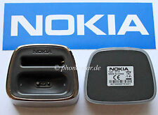 ORIGINAL NOKIA 8800 DT-8 TISCHLADESTATION DESK STAND TWIN CHARGER CHROME NEU