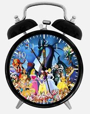 "All Disney Characters Alarm Desk Clock 3.75"" Home or Office Decor W174 Nice Gift"
