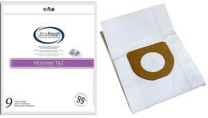 Hoover Type Y Vacuum Bags Micro Filtration -- 9 Pk - Pet Odor Absorbing -