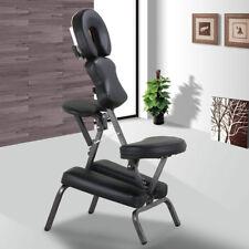 Portable PU Tattoo Spa Massage Chair Leather Pad Travel w/Free Carry Bag Black