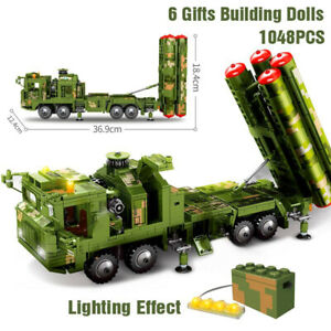 Educational Toy Kid Building Bricks C19 Constructor Block Military Truck Car