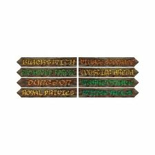 Pack of 8 Medieval Village Street Signs - 10 x 61 cm - Knight Party Decoration