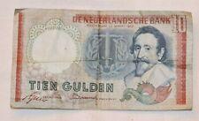 Netherlands 10 Gulden banknote dated 23 March 1953 - Hugo de Groot - Dutch