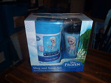 "Frozen Mug And Snug Set Traveler Mug & Cozy Fleece Throw ""Let it Go"" New"