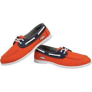 Denver Broncos NFL Men's Side Logo Slip-On Canvas Shoes, Size 8 - New