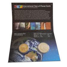 Australien- 1$ und 20 Cents Int. Year Planet Earth 2008, st