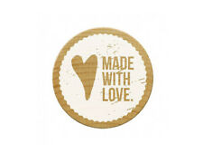 """Woodies Stempel / Motivstempel """"Made with Love"""" ø 30 mm"""