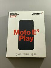 New Motorola Moto E5 Play Verizon Prepaid XT1921 Black CDMA