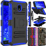 For Samsung Galaxy J7 2018/Refine/Crown Case Hybrid Holster Stand Armor Cover