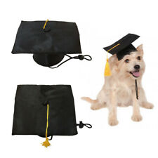 Pet Dog Graduation Hat With Yellow Tassel Academic Cap For Holiday Accessory h8
