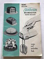 Sunbeam Mixmaster Vintage Recipe And Instruction Book 1960