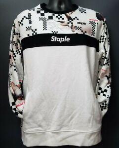 Men's Staple Pigeon Logo Crew Neck Sweater - White