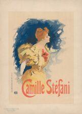 JULES CHERET Camille Stefani, France, 1886, Art Nouveau Belle Epoque Poster