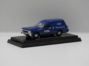 """1:64 1969 Ford XW Falcon Panel Van """"Mobil"""" Aussie Road Ragers 80899"""