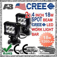 2x A&B 4 INCH 18W 6 CREE LED WORK LIGHT BAR SPOT BEAM OFF ROAD LAMP 9-32V 1260LM