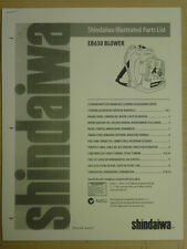 SHINDAIWA EB630 BLOWER ILLUSTRATED PARTS LIST MANUAL 10 1999