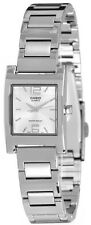 Casio Ladies Square Stainless Steel Dress Silver Quartz Watch LTP-1283D-7A New