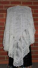 Shetland Christening baby shawl.2 ply Merino wool. NEW