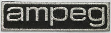 Ampeg Text Patch, with vintage font, embroidered, iron on, musicians, bands, Amp