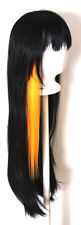 20'' Long Straight Orange Sherbert Clip on Cosplay Wig Hair Extension NEW