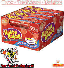 Wrigleys Hubba Bubba Bubble Gum Strawberry 7g - Pack of 20 (5 piece per pack)