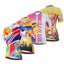 Reflective Ladies Cycling Jersey Women's Cycle Jersey Tops Bike Bicycle Shirts
