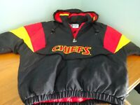Vintage Pro Line Kansas City Chiefs Black Hooded Starter Jacket Small No Flaws