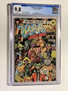 2000 A.D. monthly 1 cgc 9.8 wp eagle comics 1985 judge dredd