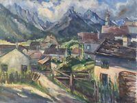 MALERIN HEDWIG LINDEMANN *1872 LANDSCHAFT IN BAYERN - AUSSTELLUNG 55 X 67 CM