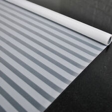 White Striped Frosted Window Film Stickers PVC Glass Films Home Office Decor 2m