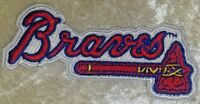 "Atlanta Braves Name 3.5"" Iron /Sew On Embroidered Patch~FREE SHIP!~"
