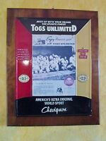 plaque  magasin-support publicitaire chevignon-togs unlimited-américa's sport